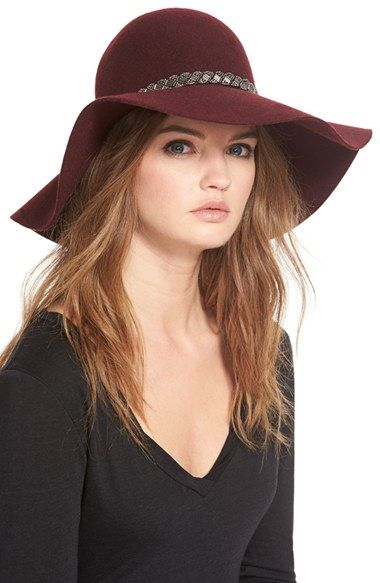 Nordstrom Beaded Floppy Wool Hat available at #Nordstrom