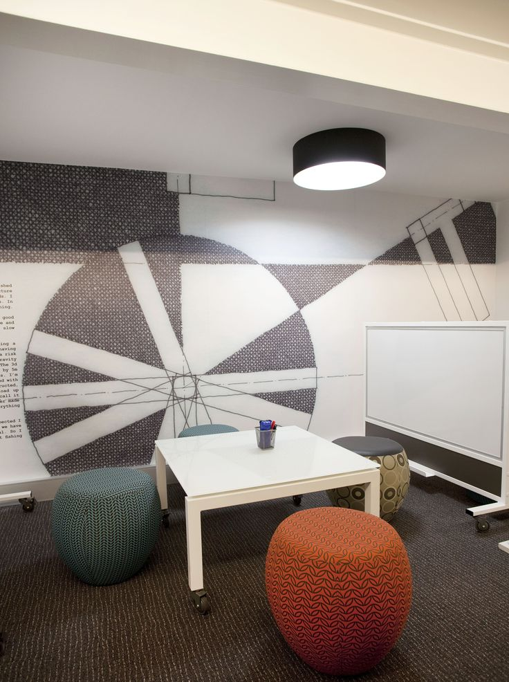 SCRIBBLE table & BOUNCE ottomans by Burgtec (EDFAA library fit-out @ UWA)