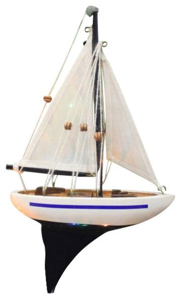 """Red, White and Blue Sailboat Christmas Tree Ornament 9"""" - Nautical Ornament transitional-christmas-ornaments"""