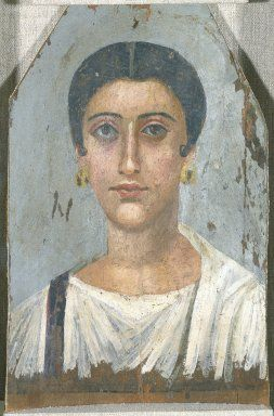 Portrait of a Noblewoman:Medium: Encaustic on wood Place Made: Egypt Dates: ca. 150 C.E. Period: Roman Period
