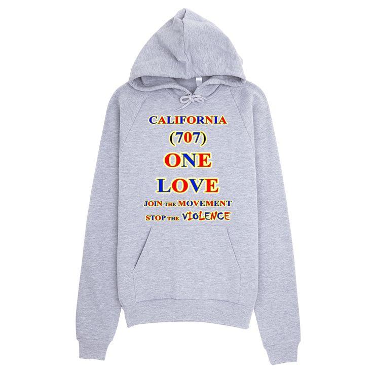 CALIFORNIA ... Area Code 707 ... ONE LOVE ... HOODIE