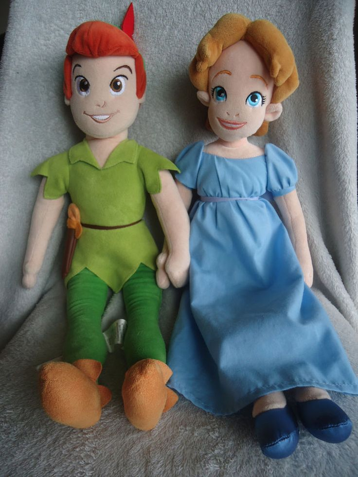 Baby Doll With Toys Rare 21 Wendy Plush Doll Peter Pan 20 Lot Tall Disney