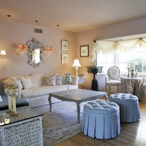 32 best romantic living rooms images on pinterest for Romantic living room ideas