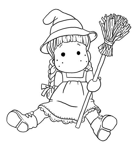 Magnolia witch hat and broom