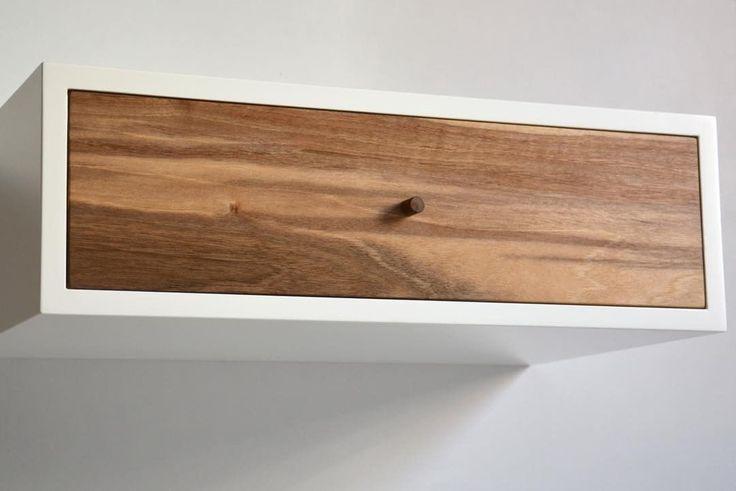 """15 kedvelés, 5 hozzászólás – MyBetterShelf (@mybettershelf) Instagram-hozzászólása: """"Floating nightstand with walnut drawer www.mybettershelf.com #floating #nightstand #shelf #drawer…"""""""