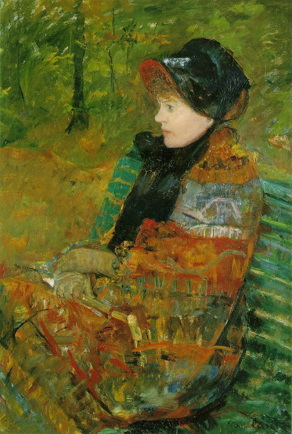 """Mary Cassatt  """"Autumn""""  Oil on canvas  1880"""