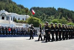 Naval base at Talcahuano Chile