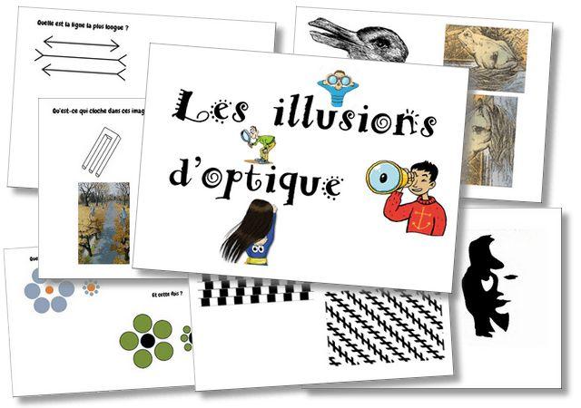 Les illusions d'optique – Cycle 3   la maîtresse a des yeux dans le dos