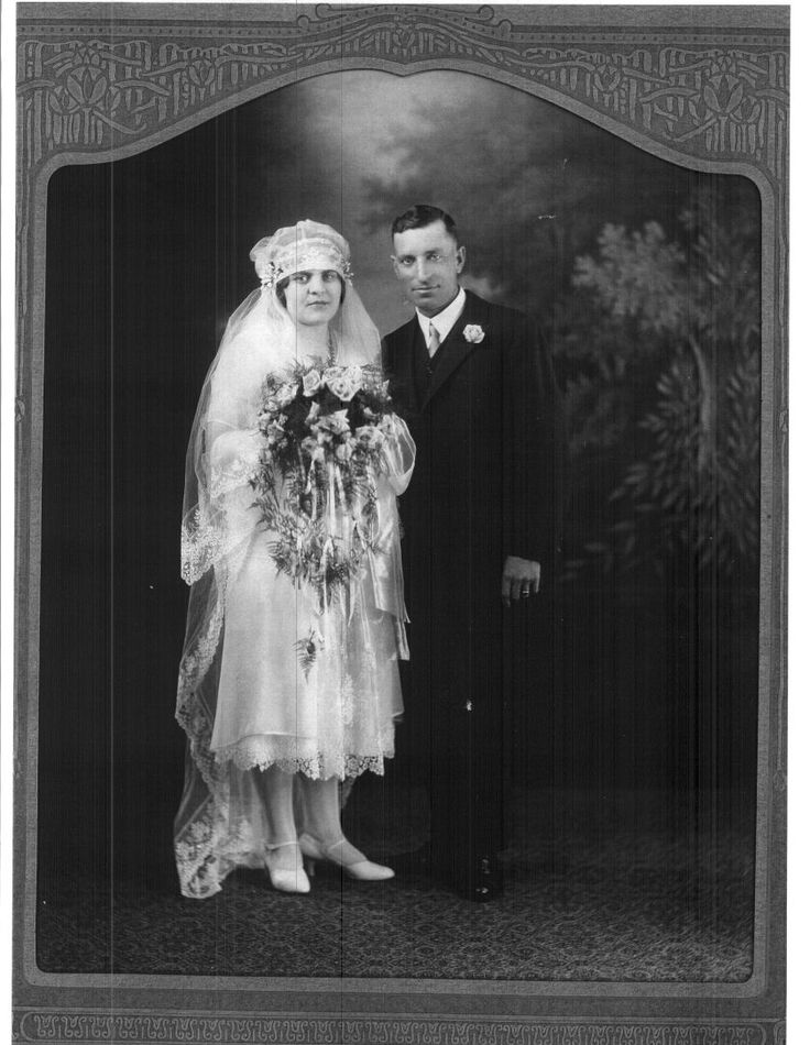Wedding Portrait of Frederick Thomas Jackson and Martha Henrietta Smith, 1926