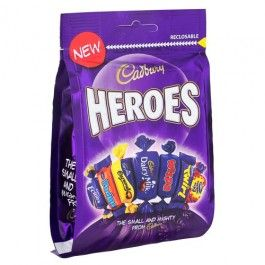 All your favourite Cadbury Heros in a pouch.