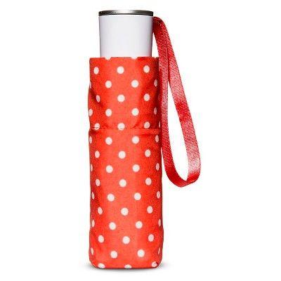 ShedRain Compact Mini Manual Umbrellas - Coral (Pink) Polka Dot