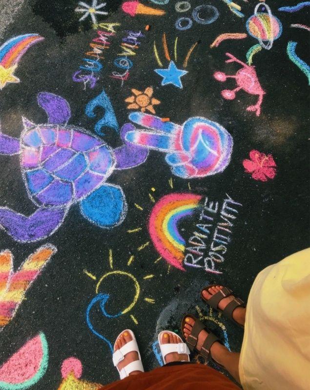 Vsco Teensvsco With Images Sidewalk Chalk Art Chalk Art