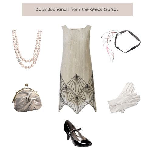 "Daisy Buchanan would definently wear something like this. The dress is white and daisy wore alot of white to make herself look innocent. It says on page 79 "" She dressed in white"", when Jordan is explaining her first encounter with Daisy. Also when Nick first meets Daisy she is in white. This would be a perfect outfit for her."