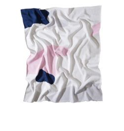 THE CLARKE BABY BLANKET Pink/Navy/Grey/White