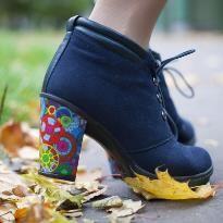 Как обновить лаковую обувь декупаж