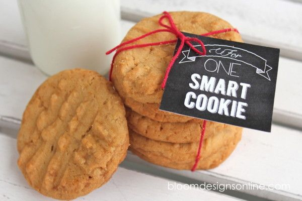 For One Smart Cookie -- adorable idea with free download for tags