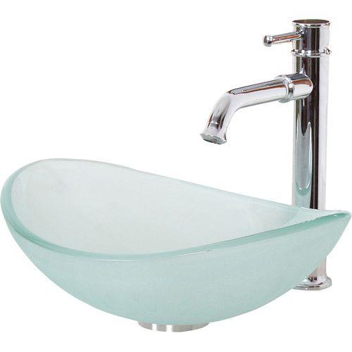 Found it at Wayfair.ca - Mini Tempered Glass Boat Shaped Oval Bowl Bottom Vessel Bathroom Sink