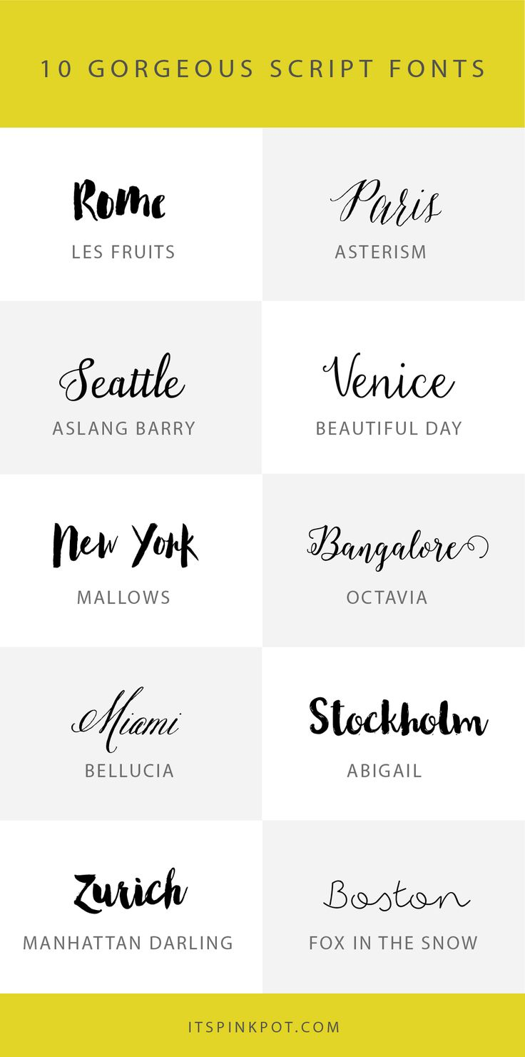≡ 10 gorgeous script fonts