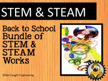 Ready to add STEM & STEAM to your classroom? Try our Back to School STEM and STEAM Bundle!Your students will use the engineering design process to create a board game with three moving parts, a sculpture about them that moves, a 3-D Fantasy STEM Lab, and a Rube Goldberg styled silhouette of a thinking process.