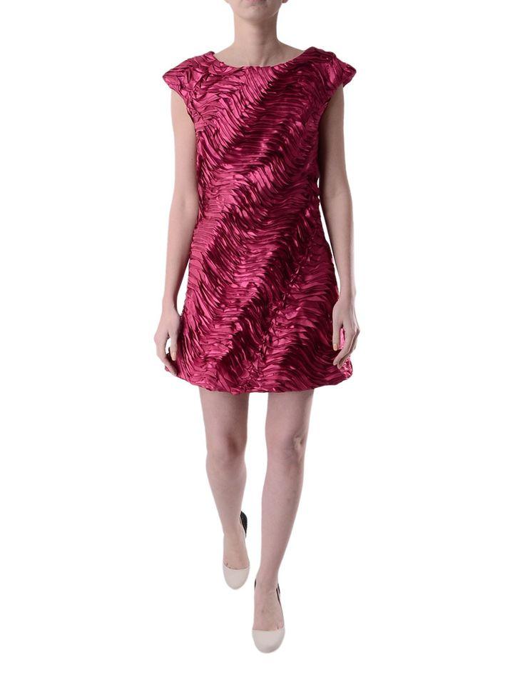 Charas Designer Wear - Ribbon Dress - Magenta | Accent Clothing