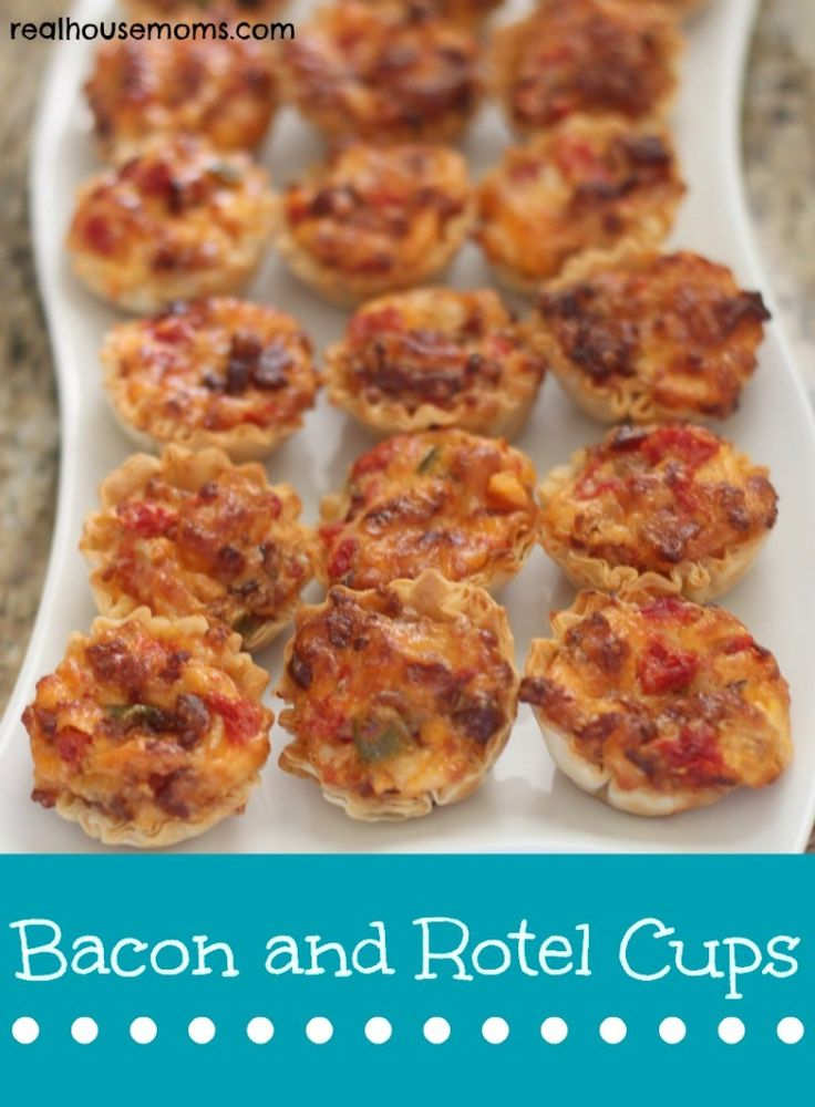 Bacon and Rotel Cups