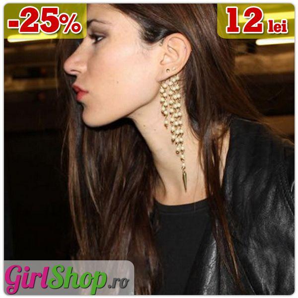Cercel ear cuff cu lanturi cu margele si tinte -> doar 12 lei http://www.girlshop.ro/cumpara/cercel-ear-cuff-cu-lanturi-cu-margele-si-tinte-100  #cercel #earcuff #cercei #margele #tinte #bijuterii #accesorii #fashion #jewelry #bijoux #girlshop