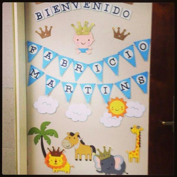 decoraci n de puertas para bienvenida de beb s imagui