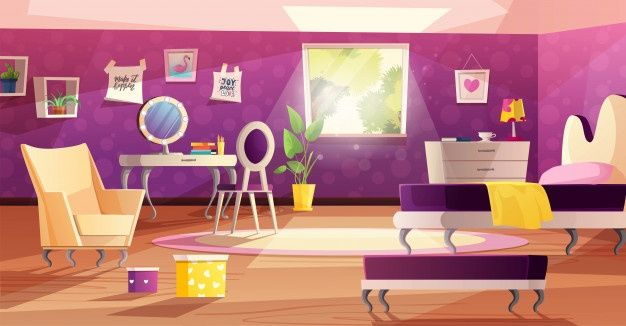 Pin On Backgrounds Anime living room background morning