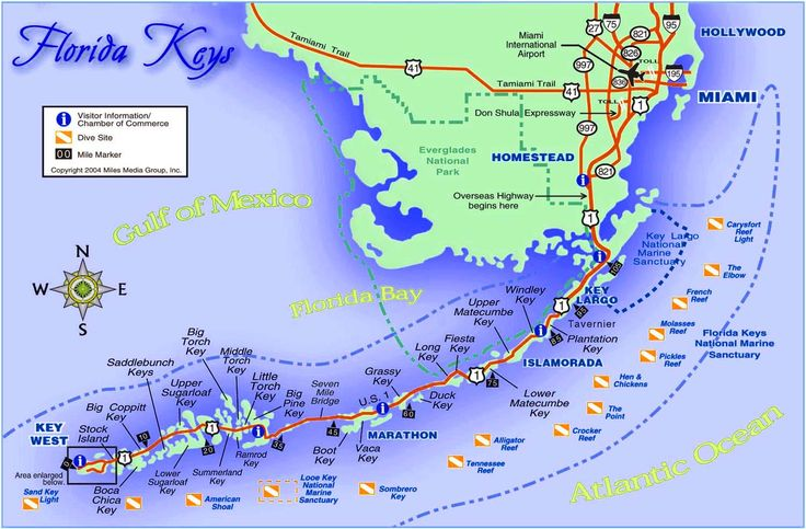 map of florida keys | the florida keys are a cluster of about 1700 islands in the southeast ...