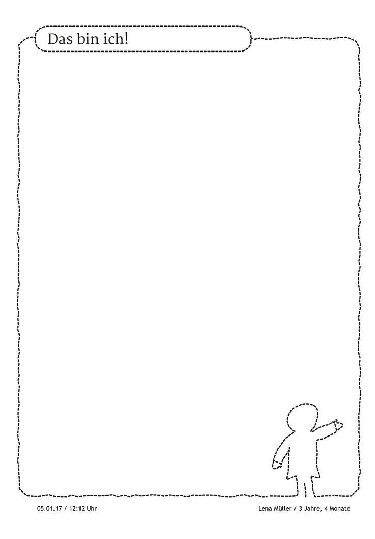 """Das bin ich! """"Das bin ich"""" darf in keinem Portfolio fehlen. Das Kind möchte hier noch Fotos von sich einfügen - für eine perfekte Selbstdarstellung.  https://stepfolio.de/portfolio.html  #dasbinich #dasbistdu #meinportfolio #Portfolioideen #Portfoliokategorien #Portfolioeintrag #Vorlagen #stepfolio #kitaapp"""