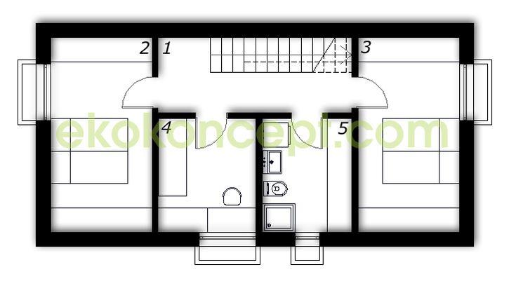 Half-basement Prefabricated house ek 024