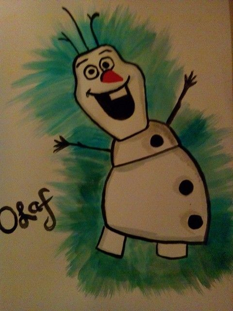 Olaf painting, hand painted by me.