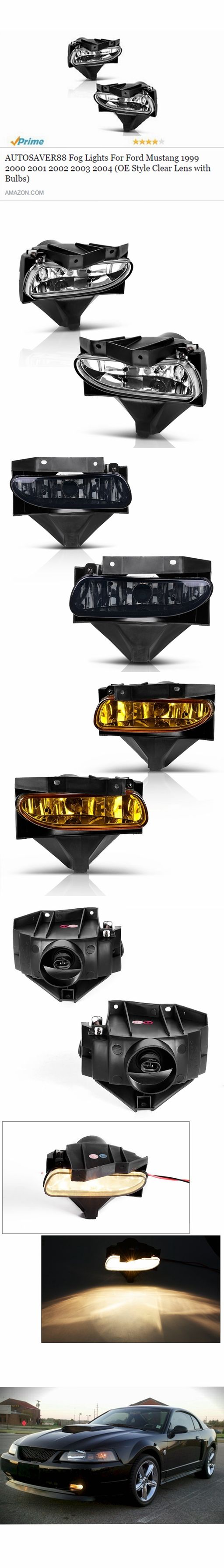 1999-2004 #Ford #Mustang fog lights #OEM style with #bulbs in threee colors (Clear/Smoke/Amber). Link: http://a.co/aVOBQX8 #FordGT #Cobra #MustangGT #foglights #Amazon #Prime