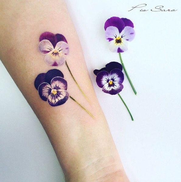 342a0af4b 75 Magical Tattoo Designs All Millennial Girls Will Love | tattoo | Pansy  tattoo, Tattoos, Violet flower tattoos