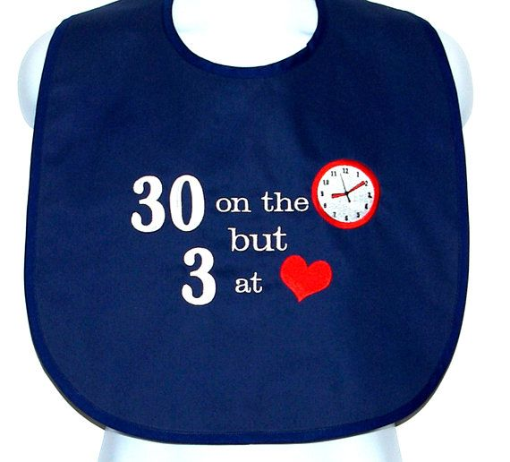 Funny Adult Birthday Bib 30 40 50 60 70 80 Custom Gag Gift Personalized With Age Friend Partner Husband Wife Ships TODAY 1360
