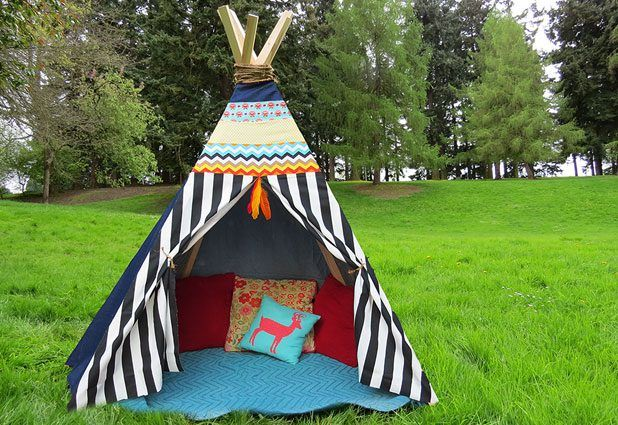 Making a teepee by hand might sound complicated, but this no-sew version is actually quite easy. You'll find most of the supplies needed for the project, such as hot glue and fabric scraps, around the house. If you don't have fabric scraps, you can use old sheets, clothing or even a drop cloth. Add pillows and blankets to create a cozy and...