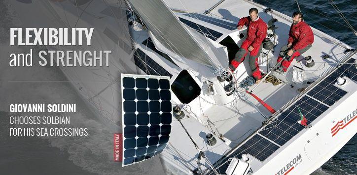 Solbian Flexible solar panels.