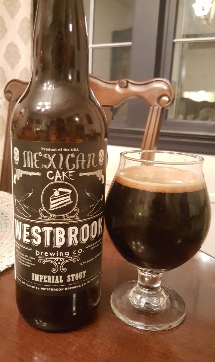 Westbrook Mexican Cake is a 10.5 AB V 50 IBU ADIS.  The appearance is black with a dark head and the nose roasty malt.  Flavor follows, roasted coffee and cocoa nib with notes of vanilla throughout.  A slight touch of spice comes through at the very end and aftertaste from the habanero.  Mouthfeel is creamy and a little viscous with a bit of a lowered carbonation.  Mexican Cake celebrates Westbrook's first year.  Fantastic, one I was lucky to share, thanks Larry.