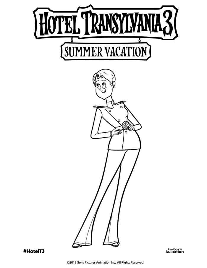 Hotel Transylvania 3 Coloring Pages Printable Ericka Van Helsing Hotel Transylvania Coloring Pages Cartoon Coloring Pages