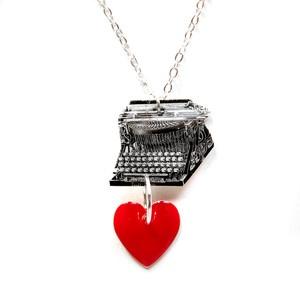 I Heart Typewriters Necklace