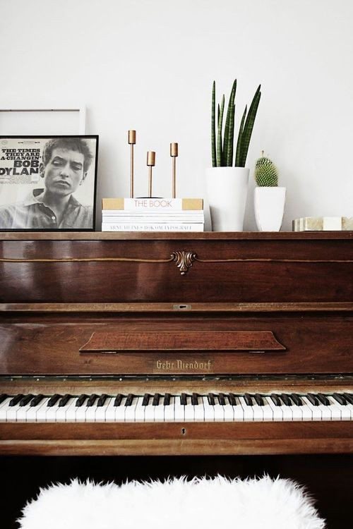 homey: Interior Design, Inspiration, Livingroom, Decorating Ideas, Piano Styling, Living Room, House, Music Room