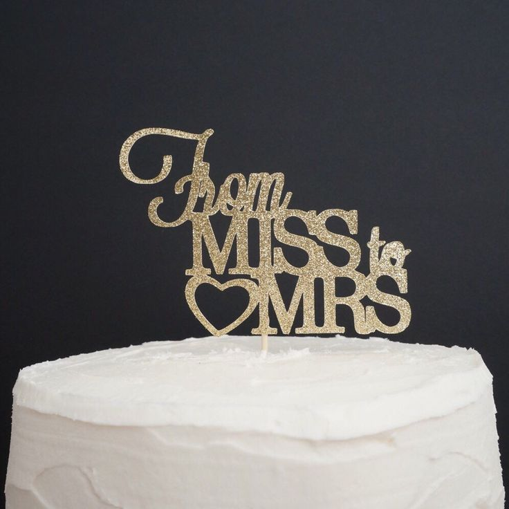 From Miss to Mrs Cake Topper, Bride to Be, Bridal Shower Cake Topper, Bachelorette Cake Topper, Bachelorette Party Decor by TrendiConfetti on Etsy https://www.etsy.com/ca/listing/496715871/from-miss-to-mrs-cake-topper-bride-to-be