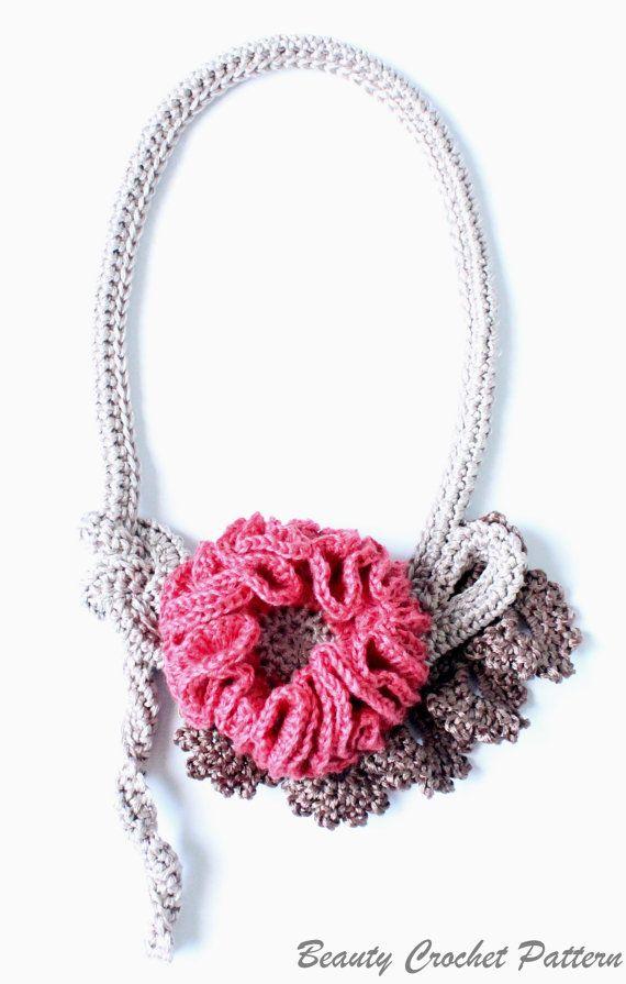 Crochet Necklace Pattern Crochet Jewelry by BeautyCrochetPattern, $4.50