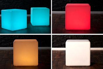Stolik Kubik LED (świecący)