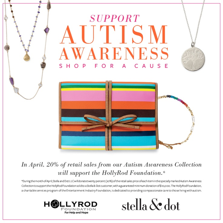 Just a week remains to support Autism through the HollyRod Foundation. 20% of proceeds from sales of these items at donated