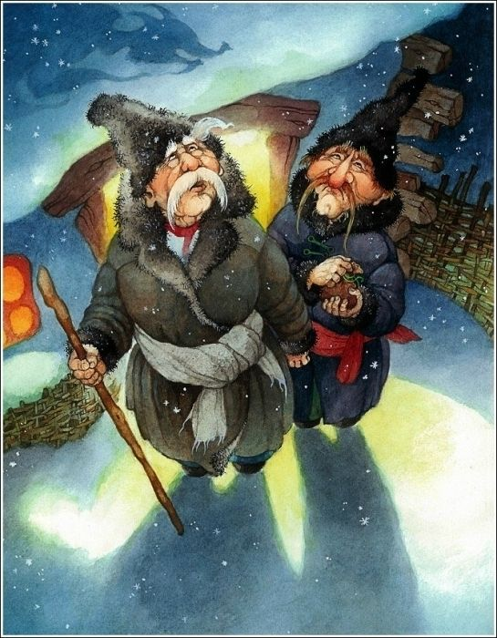 Иллюстратор Ольга Ионайтис - Ночь перед Рождеством