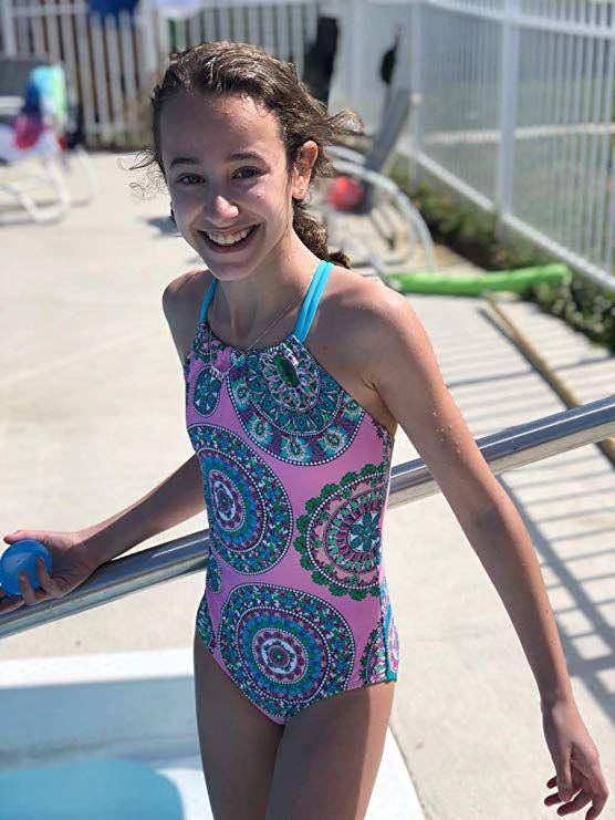 Kanu Surf Girls Jasmine Halter Beach Sport 1-Piece Swimsuit One Piece Swimsuit