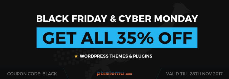 Last chance to take advantage of the #CyberMonday #sale 🤩and get #WordPress #themes 35% cheaper!  👁️ Get the discount: https://djex.co/2i15MVb
