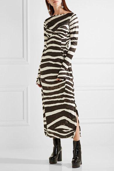 Marc Jacobs - Zebra-print Stretch-jersey Dress - Black - US10