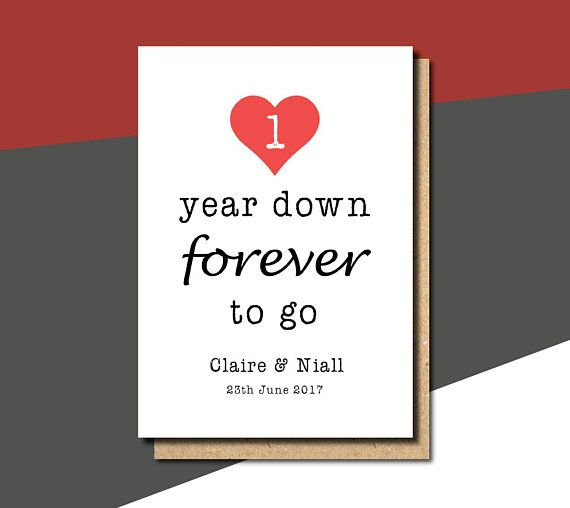 1st Anniversary Card 1st Wedding Anniversary Card Etsy 1st Anniversary Cards Anniversary Cards For Wife Anniversary Cards